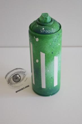 Peinture à la bombe sur bombe vide Pièce unique Prix : 20 euros